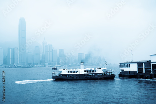 star ferry at victoria harbor Slika na platnu