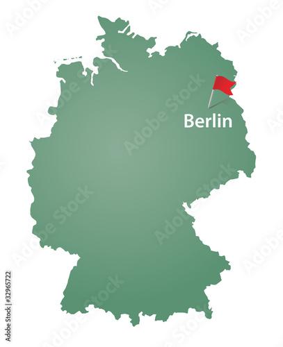 Berlin Deutschlandkarte Buy This Stock Vector And Explore