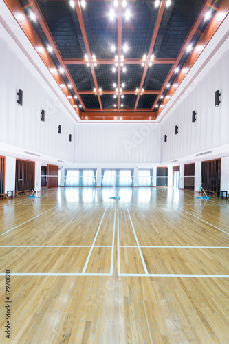 Spoed Foto op Canvas Stadion Empty sports court