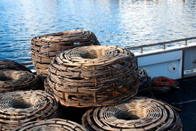 Old Crayfish Pots On A Boat Fremantle Australia