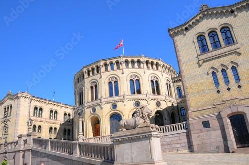 Oslo (Norway) - Parliament Tablou Canvas