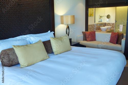 Camera da letto con bagno personalizzato - Buy this stock photo and ...