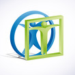 Logo Leonardo da Vinci 3D # Vector