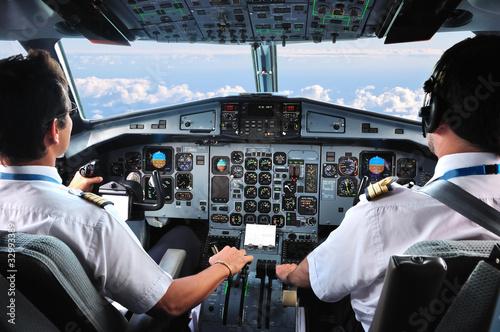 pilotes d'avion Fotobehang