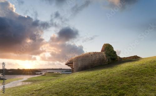 Photo Bunker on the coastline, Gold Beach..