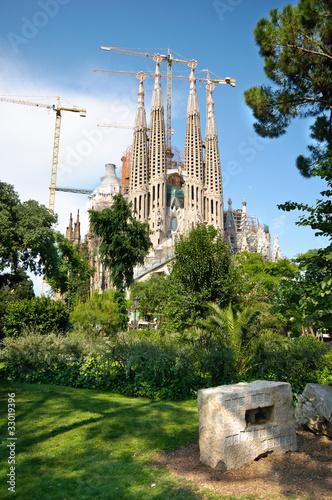 Papiers peints Barcelona Sagrada Familia church in Barcelona, Spain