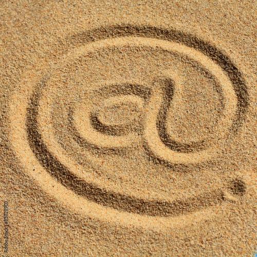 Acrylic Prints Stones in Sand www