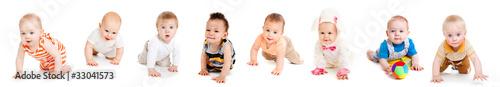 Photo  Babies crawling