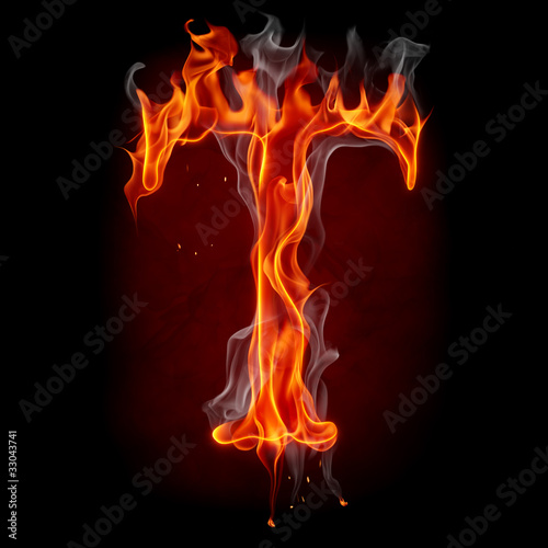 Poster Flamme Fire letter