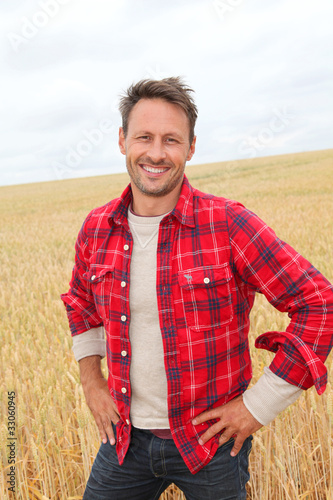 Fototapeta Portrait of smiling man in countryside obraz