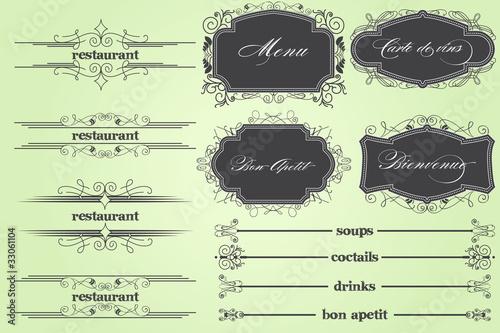 Valokuvatapetti Bon Apetit Restaurant Menu