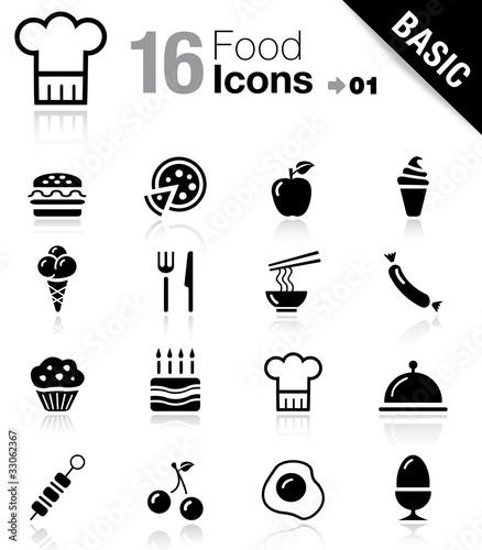 Basic - Food Icons Canvas Print