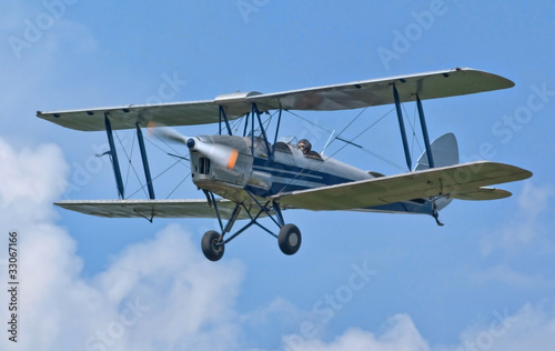 Tiger Moth biplane trainer WW2 aircraft Canvas Print