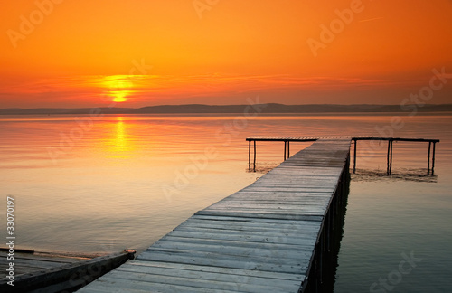 Foto-Rollo - Lake Balaton with a very nice sunset at summer