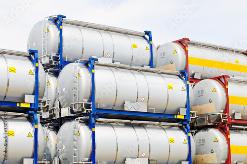 Photo  chemical and fuel storage tanks for transport