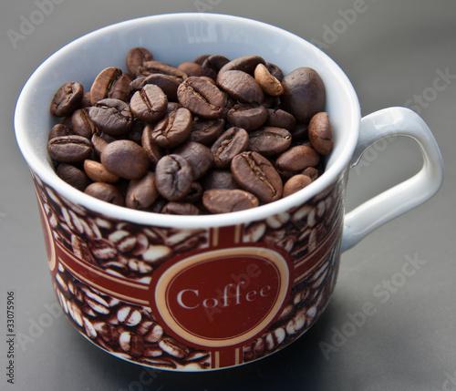 Wall Murals Coffee beans tasse café
