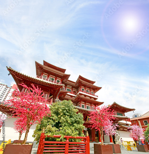 Tuinposter Singapore Singapore china temple
