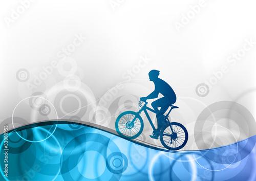 niebieski-rowerzysta