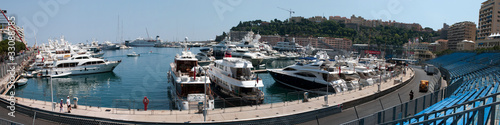 Port Hercules and Formula1 Monte-Carlo track in Monaco