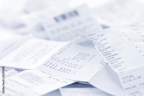 Fényképezés  Sales receipts