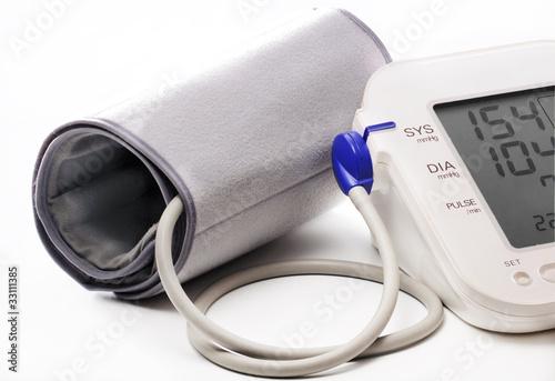 Foto-Schmutzfangmatte - Blood pressure meter showinh high BP 154/104 (von stevem)