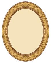 Decorative Oval Vintage Frame