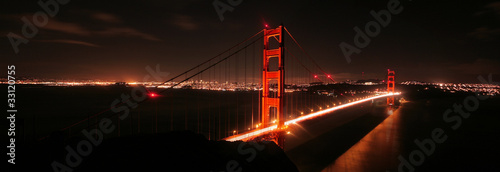 Foto op Canvas San Francisco Golden Gate Bridge at Night