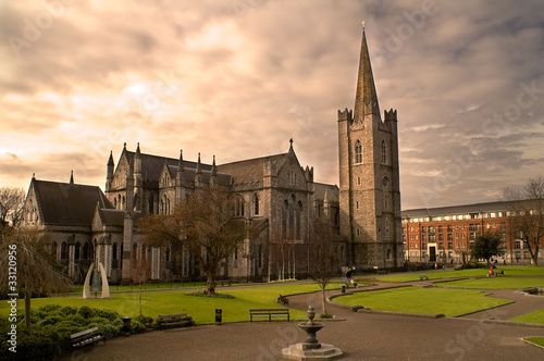 Photo  St. Patrick's Cathedral in Dublin, Ireland.