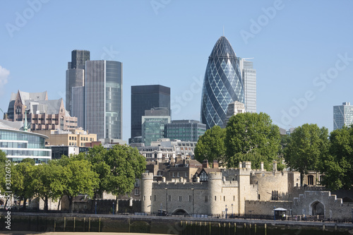 Foto op Canvas Londen Gherkin and Tower of London