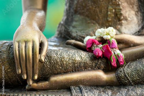 Leinwand Poster buddha statue detail