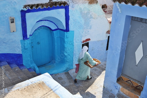 Foto op Aluminium Marokko Blue medina of Chechaouen, Morocco