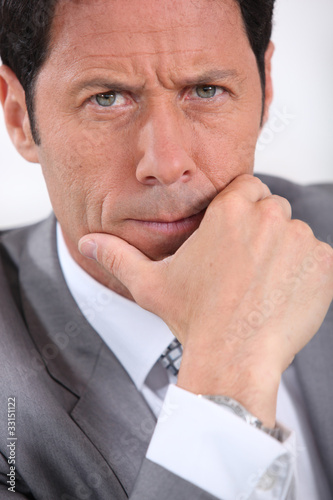 Fototapety, obrazy: concerned businessman