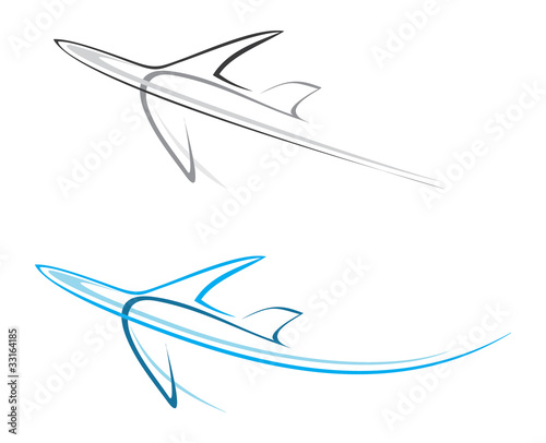 Wall Murals Abstract Art Plane, airliner