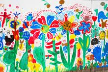 Von Kindern Bemalte Wand