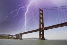 Storm Approaching Golden Gate