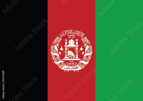 Afghanistan flag Wallpaper Mural