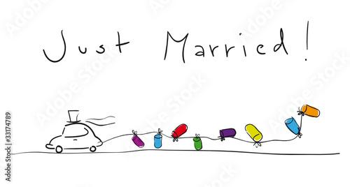 Married zeichnung hochzeitsauto just FiraF Channel