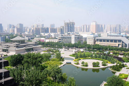 Downtown view of Xian, China