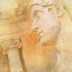 Fototapeta Rzym Roman landmarks - vintage series