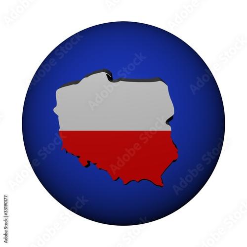 Poland map flag on blue sphere illustration - Buy this stock ...