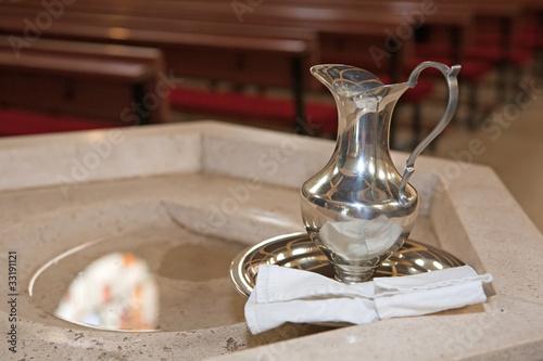 Billede på lærred Baptism detail