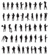 a set of business people silhouettes