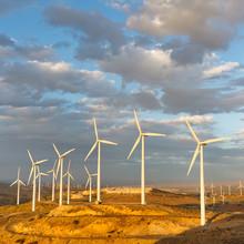 Wind Farm At Tehachapi Pass, California, USA