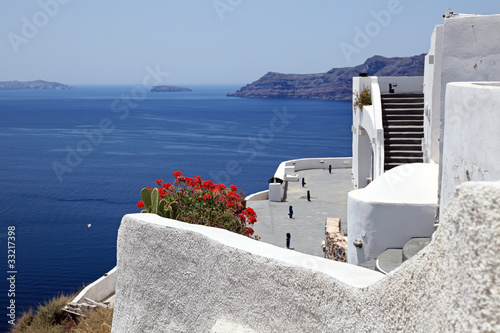 View of Oia and the Caldera of Santorini, Cyclades islands, Gree