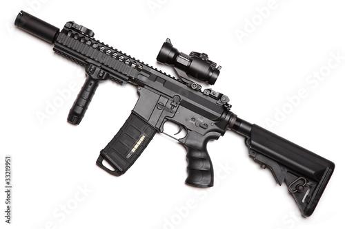 Custom build compact size M4A1 assault carbine Fototapeta