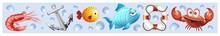 Animali Mare Sfondo Banner-Sea Animal Background-Vector-3