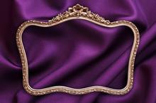 Cadre Baroque, Fond Satin Violet
