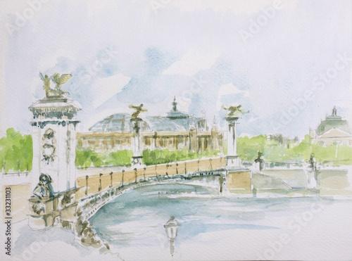 Recess Fitting Illustration Paris Pont Alexandre III