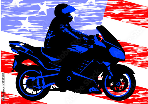 Poster Motocyclette American motorcycle