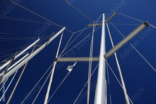 Alberi barche a vela, Cagliari Canvas-taulu